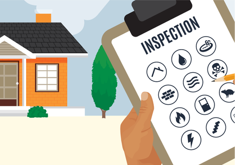 A home inspection checklist graphic in Cuyahoga Falls Ohio