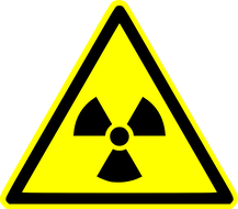 A nuclear radiation sign showing the dangers of radon and importance of radon testing in Akron Ohio